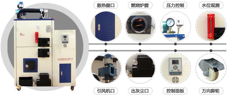 30-100公斤全自动生物质蒸汽发生器