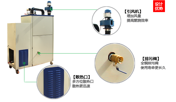 30-100公斤全自动生物质蒸汽发生器原理